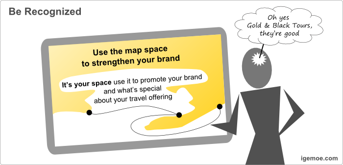 The Value of a Good Map in Marketing Travel - Be Recognized